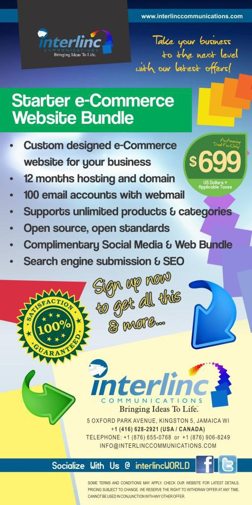 eCommerce web design starting at only US$699.95 from Interlinc Communications