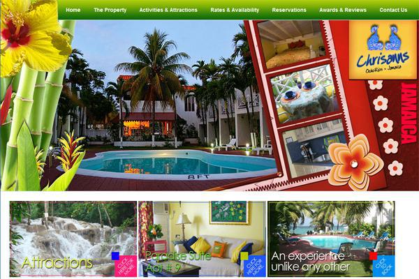 Screenshot of website designed by Interlinc Communications
