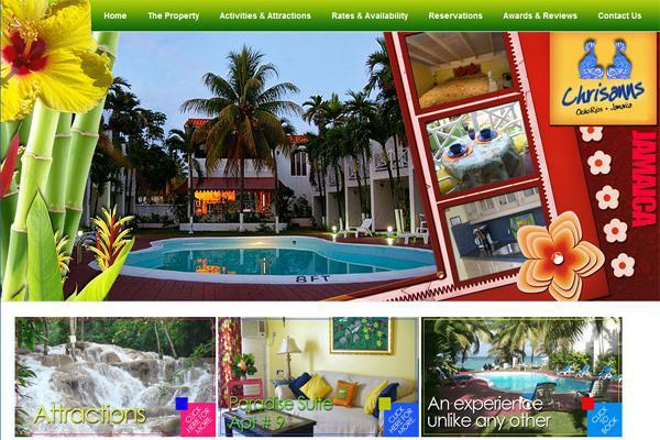Screenshot of website designed by Interlinc Communications