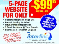 Get Your 5 Page Website For Only US$99.95 per year - Only from Interlinc Communications