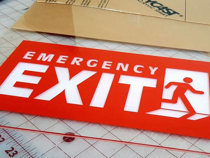 Acrylic Emergency Exit Signage