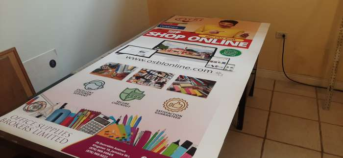 Large format vinyl banner printed and assembled by Interlinc Communications